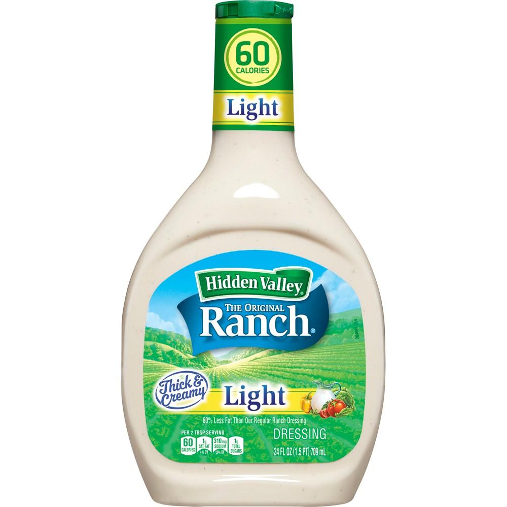 Hidden Valley Original Ranch Light Salad Dressing & Topping - Gluten Free - 24oz Bottle