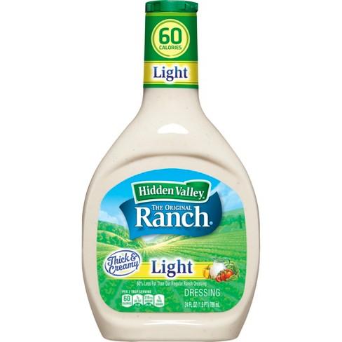 Hidden Valley Original Ranch Light Salad Dressing & Topping - Gluten Free - 24oz Bottle - image 1 of 7