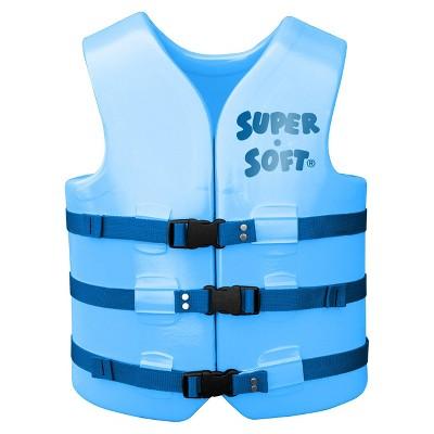 TRC Recreation Super Soft Vinyl Coated Foam USCG Type III PFD Adult Water Safety Life Jacket Vest, Blue, Medium