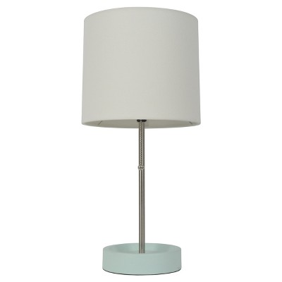 Stick Table Lamp with Single Outlet Painted Mint Base - Room Essentials™