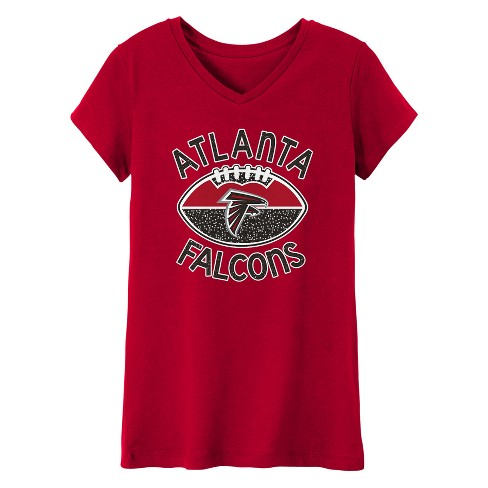 Atlanta Falcons Girls' Represent V-Neck T-Shirt XS - image 1 of 1