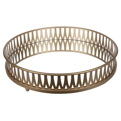 Round Gold Tray - A&B Home