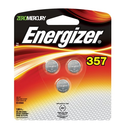 Energizer 357 Silver Oxide Batteries 3pk - image 1 of 1