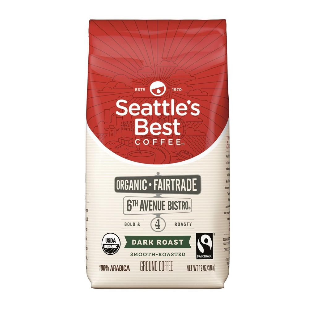 Seattle 39 S Best Coffee 6th Avenue Bistro Blend Organic Dark Roast Ground Coffee 12oz