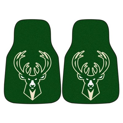 NBA Milwaukee Bucks Carpet Car Mat Set - 2pc