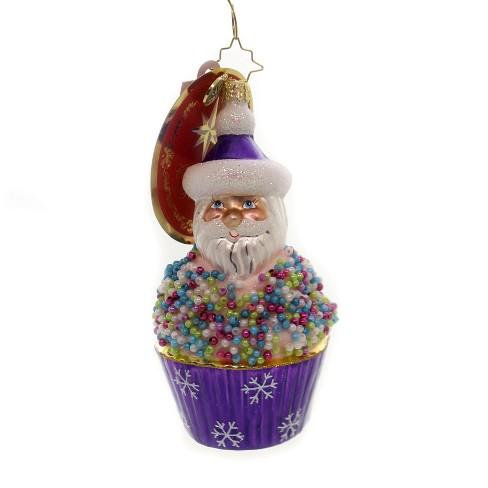 "Christopher Radko 5.25"" Cupcake Sprinkle Kringle Santa Treats - image 1 of 2"