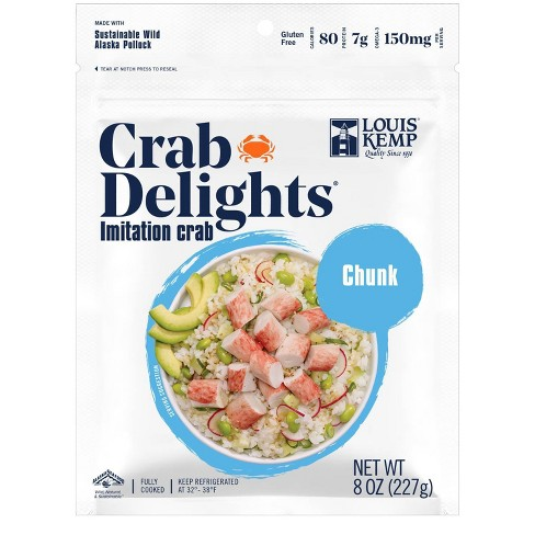 Louis Kemp Crab Delights Imitation Crab Chunk Style - 8oz - image 1 of 3