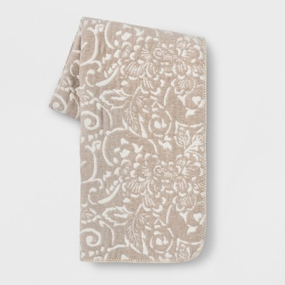 Floral Throw Blanket Neutral - Threshold™