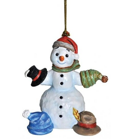 "Hummel 3"" Snowfall Valley What Should I Wear Today Snowman with Hats Christmas Ornament - White/Red - image 1 of 1"