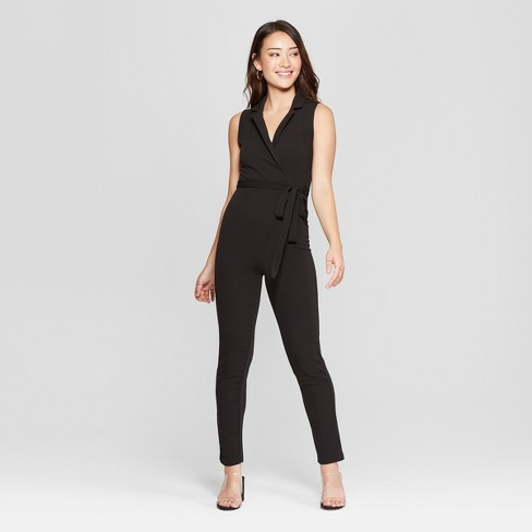 43376f01540 Women s Sleeveless Blazer Wrap Jumpsuit - Almost Famous (Juniors ) Black