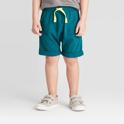 Toddler Boys' Jersey Pull-On Shorts - Cat & Jack™ Turquoise 12M