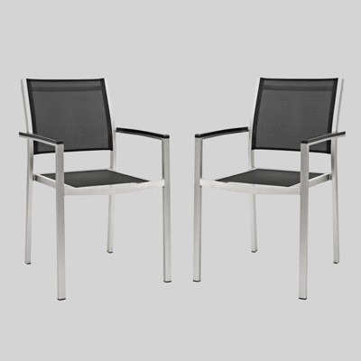 Shore 2ct Outdoor Patio Aluminum Dining Chair - Modway