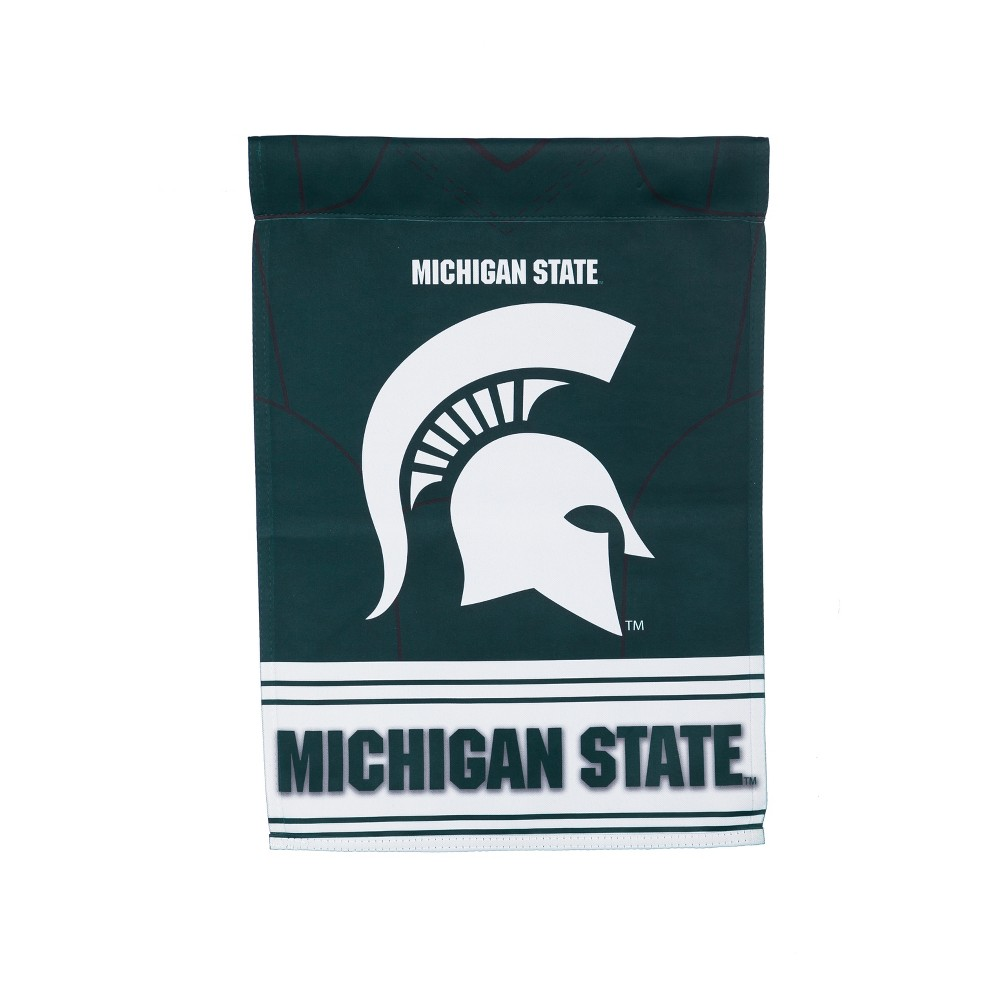 Michigan State Spartans Two-Sided Jersey Garden Flag