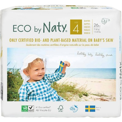 ECO by Naty Jumbo Pack Diapers - Size 4 - 27ct