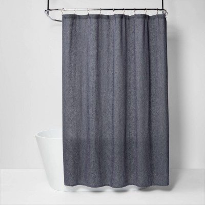 Woven Pattern Shower Curtain Blue - Project 62™