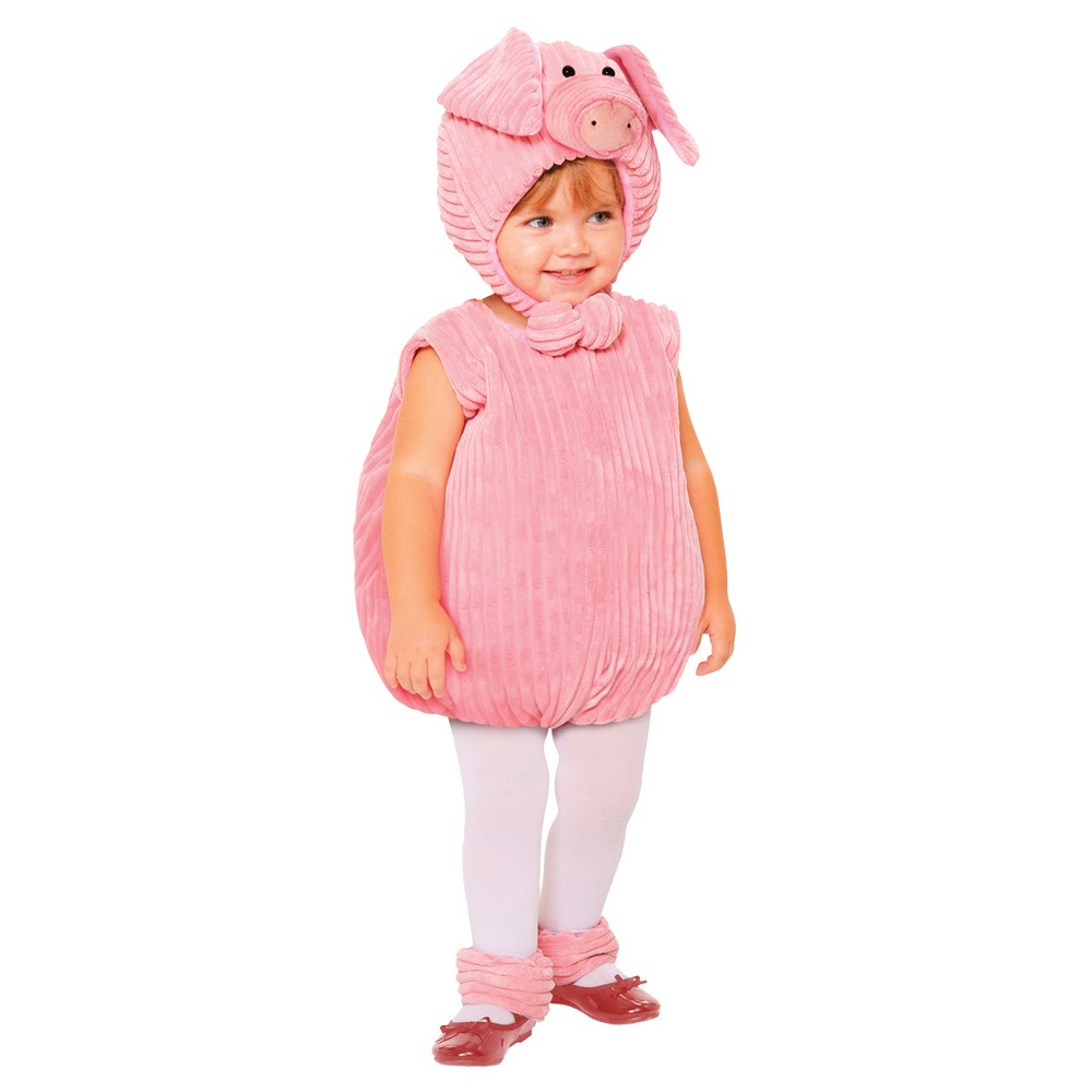 Image of Halloween Girls' Pig Toddler Costume 1-2t, Girl's, Size: 12-24M, MultiColored