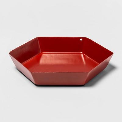 Hexagon Metal Tray Red - Room Essentials™