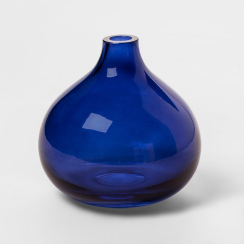 Round Glass Vase Blue Project 62 Target