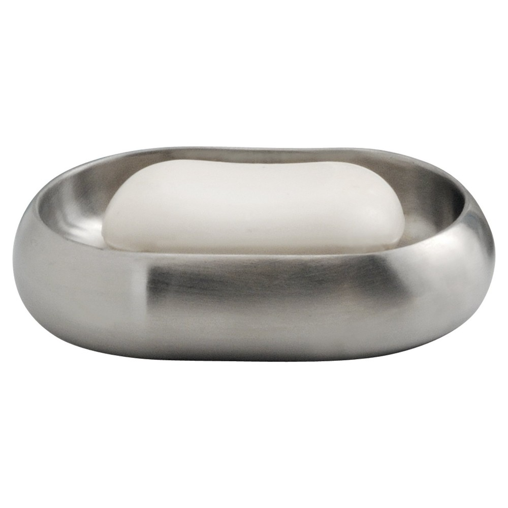 Nogu Stainless Steel Soap Dish Brushed - iDESIGN, Silver