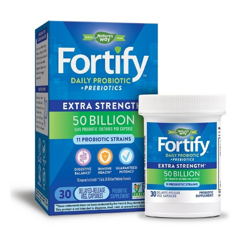 Nature's Way Fortify Daily Probiotic Capsules - 30ct - image 1 of 3