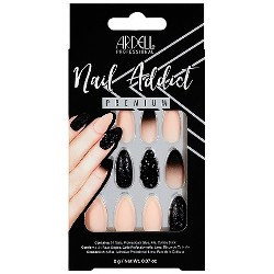 Ardell Nail Addict False Nails Pink Marble & Gold - 24ct : Target