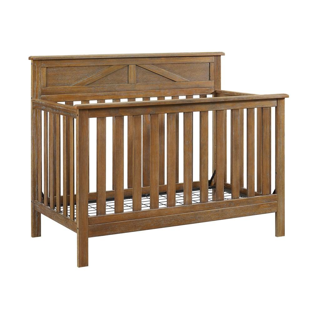 Baby Relax Hathaway 5-in-1 Convertible Crib - Rustic Coffee