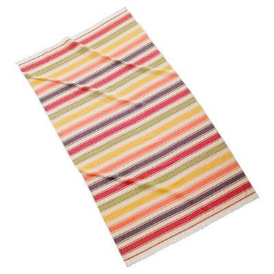 Pareo Stripe Beach Towel Organe/Green Kassatex®