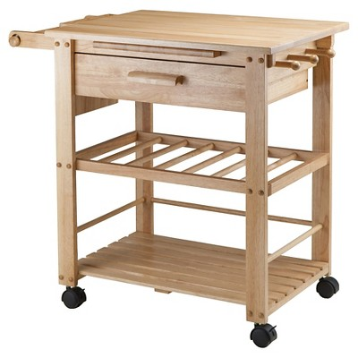Finland Kitchen Cart Wood/Natural - Winsome
