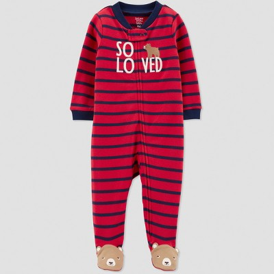 Baby Boys' Interlock Bear Sleep 'N Play - Just One You® made by carter's Red 3M