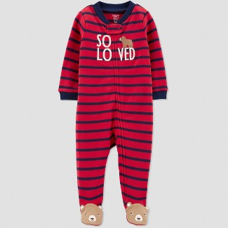 Baby Boys' Interlock Bear Sleep 'N Play - Just One You® made by carter's Red 6M