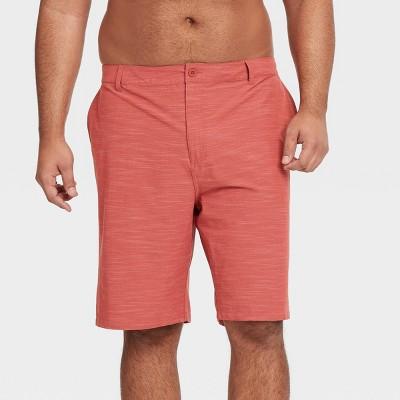 "Men's Big & Tall 10.5"" Hybrid Swim Shorts - Goodfellow & Co™ Red"