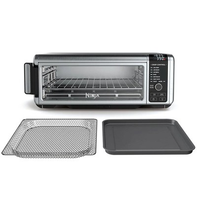Ninja Foodi 8 in 1 1800 Watt Compact Digital Countertop Pan Toaster Oven Versatile Kitchen Appliance, Stainless Steel (Certified Refurbished)