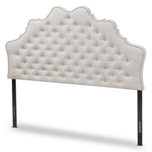 Hilda Modern and Contemporary Fabric Headboard Beige - Baxton Studio - image 1 of 6