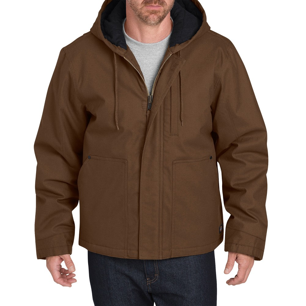 Dickies Men's Flex Sanded Duck Canvas Mobility Rain Coats - Timber Brown XL
