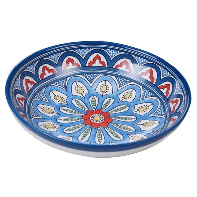 128oz Earthenware Tangier Serving Bowl Blue - Certified International