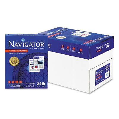 Navigator Premium Multipurpose Paper 99 Brightness 24lb 8-1/2 x 11 White 5000/Carton NMP1124