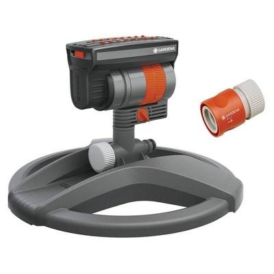 Gardena 84-BZMX Outdoor ZoomMaxx Oscillating Sprinkler on Weighted Sled Base