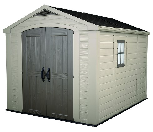 Factor Large Resin Outdoor Storage Shed 8X11 - Taupe/Beige - Keter - image 1 of 12