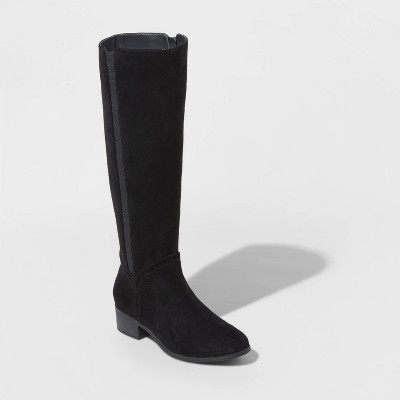 Women's Brielle Microsuede Riding Boots - Universal Thread™ Black 9.5