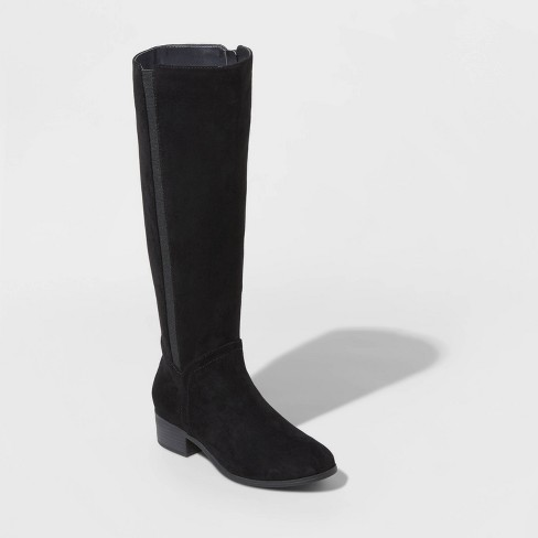 Women's Brielle Microsuede Riding Boots - Universal Thread™ - image 1 of 3