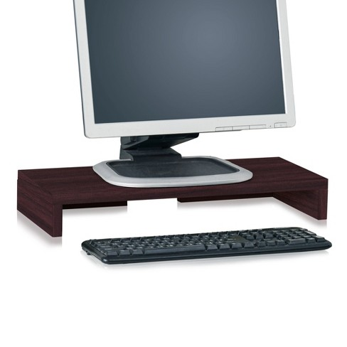 Eco Friendly Computer Monitor Stand Riser, Espresso - Lifetime Guarantee - image 1 of 6