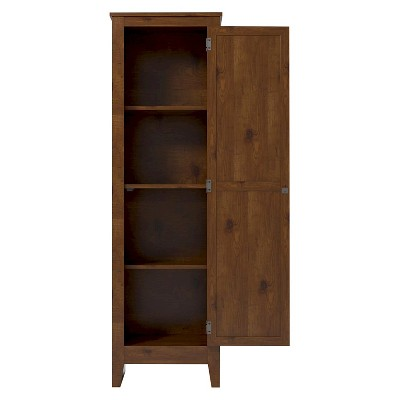 Hagar Single Door Storage Pantry Cabinet Pine   Room U0026 Joy