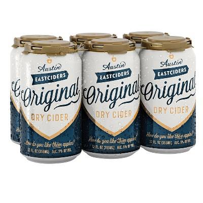 Austin Eastciders Original Dry Hard Cider - 6pk/12 fl oz Cans