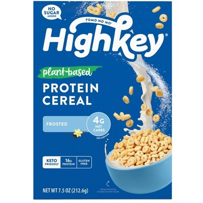 HighKey Plant Protein Cereal - Frosted - 7.5oz