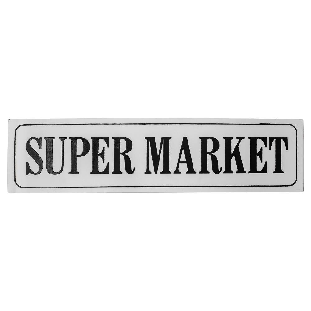 Best Super Market Wall Dcor White Black 41x10 Vip Home Garden Multi Colored