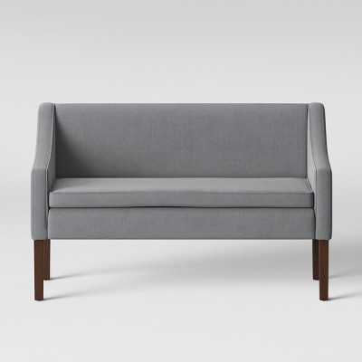 Nashua Settee Bench with Short Back Fabric Gray - Threshold™