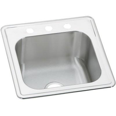 Elkay Ese202010 Celebrity 20 Drop In Single Basin Stainless Steel Kitchen Sink Target