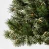 7.5ft Pre-lit Artificial Christmas Tree Slim Virginia Pine with Clear Lights - Wondershop™ - image 3 of 4