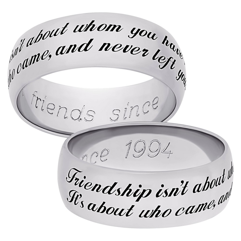 Sterling Silver Friendship Sentiment Band - Silver (10)