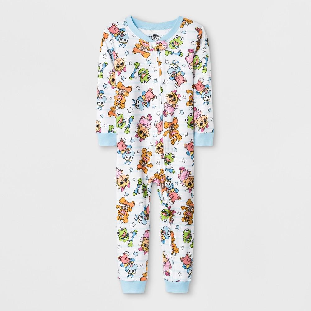Image of Toddler Girls' Muppet Babies Blanket Sleeper - White 2T